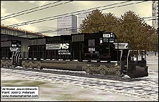 Norfolk Southern SD40-2 Repaint - 1.58 MB KB