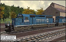 Ex-Conrail Norfolk Southern SD40-2 Repaint - 1.75 MB KB
